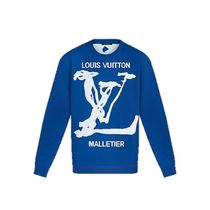 Louis Vuitton 2020 SS LV SCRIBBLES INTARSIA CREWNECK blue long sleeve