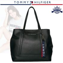 Tommy Hilfiger Casual Style Faux Fur A4 Plain Totes