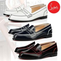 Christian Louboutin Leather Office Style Elegant Style Loafer & Moccasin Shoes