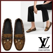 Louis Vuitton Monogram Blended Fabrics Loafer & Moccasin Shoes