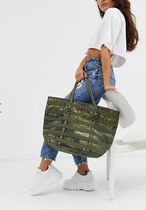 Nike Camouflage Casual Style Unisex Canvas Street Style A4 Totes