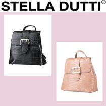Stella Dutti Casual Style Plain Other Animal Patterns Leather Party Style