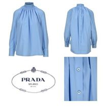 PRADA Long Sleeves Plain Medium Office Style Elegant Style