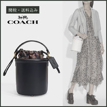 Coach Casual Style Calfskin Tassel 2WAY Plain Leather Party Style