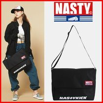 NASTYKICK Casual Style Unisex Street Style A4 2WAY Shoulder Bags