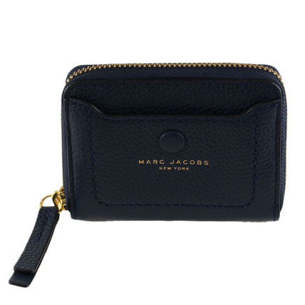Plain Leather Small Wallet Logo Coin Cases