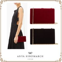 Anya Hindmarch 2WAY Chain Plain Party Style Elegant Style Clutches