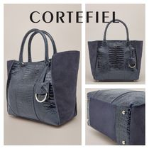 CORTEFIEL Other Animal Patterns Leather Office Style Elegant Style