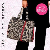 Stella McCartney STELLA LOGO Leopard Patterns Casual Style Canvas Office Style Logo Totes