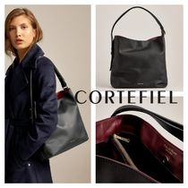 CORTEFIEL Leather Office Style Elegant Style Bags