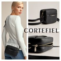 CORTEFIEL Casual Style Leather Elegant Style Shoulder Bags