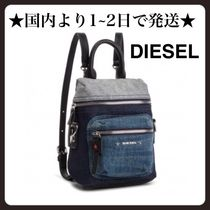 DIESEL Unisex Denim 2WAY 3WAY Backpacks