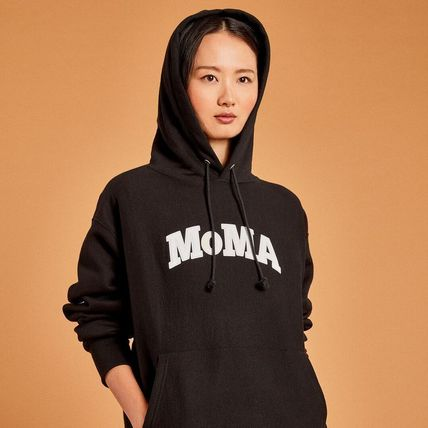 MoMA Hoodies Pullovers Unisex Street Style Long Sleeves Plain Cotton Logo 5