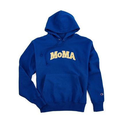 MoMA Hoodies Pullovers Unisex Street Style Long Sleeves Plain Cotton Logo 7