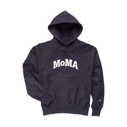 MoMA Hoodies Pullovers Unisex Street Style Long Sleeves Plain Cotton Logo 9