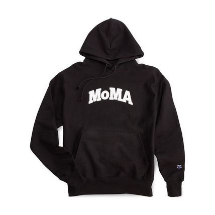MoMA Hoodies Pullovers Unisex Street Style Long Sleeves Plain Cotton Logo 10