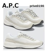 A.P.C. Rubber Sole Casual Style Unisex Street Style Plain