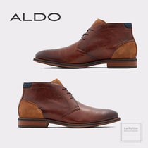 ALDO Plain Leather Chukkas Boots