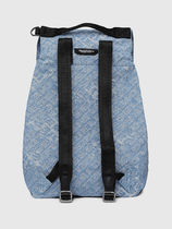 DIESEL Unisex Denim Street Style A4 Logo Backpacks
