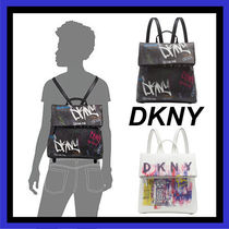 DKNY Casual Style Faux Fur Backpacks