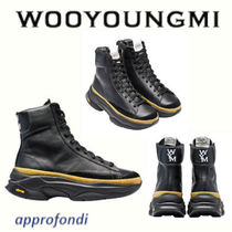 WOOYOUNGMI Plain Leather Boots