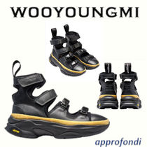WOOYOUNGMI Plain Leather Sandals