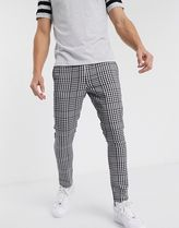 ASOS Printed Pants Other Plaid Patterns Street Style Cotton