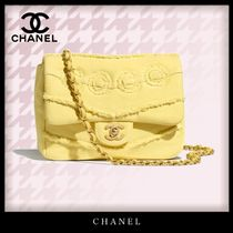 CHANEL Casual Style Denim 2WAY Chain Elegant Style Crossbody Logo