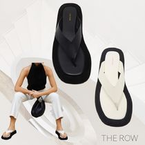 The Row Casual Style Street Style Plain Flip Flops Flat Sandals
