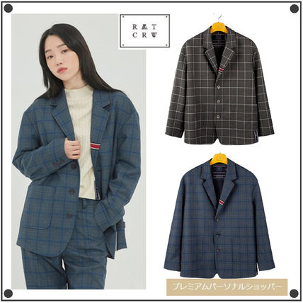 Other Check Patterns Casual Style Unisex Street Style Medium