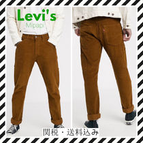 Levi's Tapered Pants Corduroy Street Style Plain Logo Tapered Pants