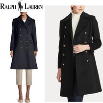 LAUREN RALPH LAUREN Other Check Patterns Casual Style Wool Street Style Plain