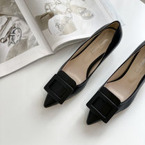 Casual Style Faux Fur Plain Office Style Chunky Heels