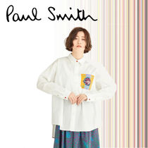 Paul Smith Casual Style Long Sleeves Plain Other Animal Patterns Cotton