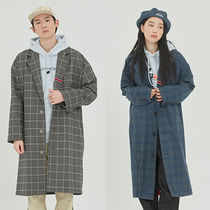 ROMANTIC CROWN Other Plaid Patterns Unisex Street Style Long Oversized