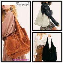 Free People Casual Style Unisex Suede A4 Plain Office Style Totes