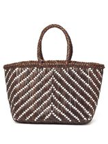 Dragon Diffusion Street Style Plain Leather Straw Bags