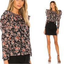 TULAROSA Flower Patterns Casual Style Puffed Sleeves Long Sleeves