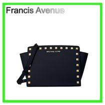 Michael Kors Saffiano Studded 2WAY Plain Satchels