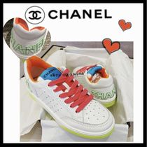 CHANEL SPORTS Bi-color Plain Leather Sneakers