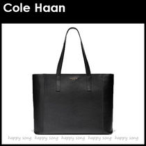 Cole Haan Casual Style A4 Plain Leather Office Style Elegant Style