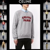 CELINE Crew Neck Wool Street Style Long Sleeves Cotton Oversized