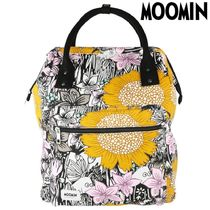 Moomin Flower Patterns Casual Style Unisex Canvas Backpacks