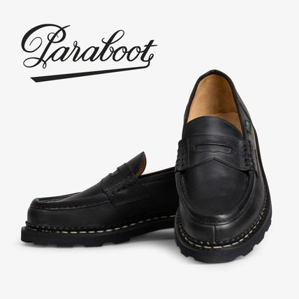 Paraboot REIMS Loafers Unisex Street Style Plain Leather Oxfords
