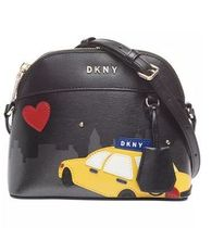 DKNY Heart Casual Style Leather Office Style Elegant Style