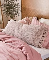 Urban Outfitters Plain Fringes Decorative Pillows