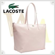 LACOSTE Casual Style Street Style PVC Clothing Totes