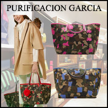 Purificacion Garcia Camouflage Casual Style Canvas A4 Office Style Elegant Style
