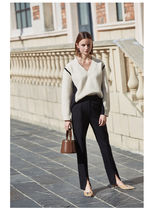 Casual Style Plain Cotton Long Party Style Office Style