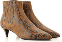 CELINE Python Elegant Style Ankle & Booties Boots
